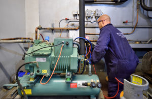 Welch Refrigeration engineer providing HVAC and refrigeration servicing in Suffolk