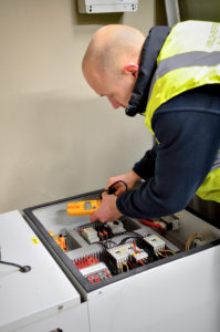 Welch Refrigeration engineer working on a commercial ice machine in Suffolk
